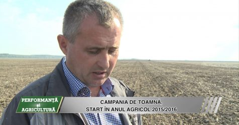 AGRICOST – Performanta si Agricultura,  Insamantarile de toamna-  22 Octombrie 2015