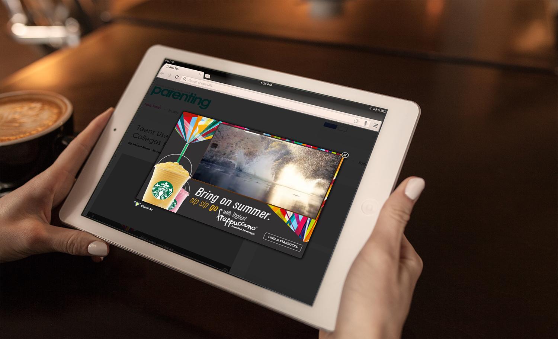 starbucks-lightbox-tablet Productie clipuri publicitare - Productie clipuri publicitare